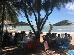 And then relaxed eating and chilling at the beach tables