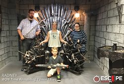 Family fun times capturing the Throne