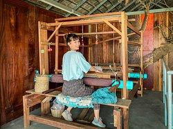 Khmer traditional loom, for weaving the Khmer Scarf (Krama)