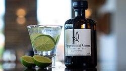 Peppermint Gum Gin Cocktail