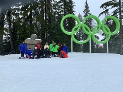 Group shot up at Cypress Mountain right when we got back from our snowshoe tour