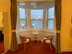 Nice water view out of the bay window sitting area of the Bowmore Suite.