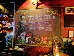 Beers on tap at Linda's Tavern.