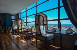 """""""Perched on the 16th floor of Maayo Hotel, this restaurant commands a panoramic view of the city."""