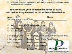Donate today visit portageskatepark.org