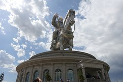The giant statue of Genghis Khan.
