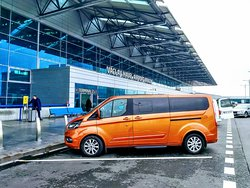 We provide also Prague Airport transfers. With our large VAN it was never easier to travel with your family. 7+1, Free Wi-fi, free water, english-speaking personal driver.