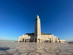 Hassan II Mosque - it is the only mosque where non-Muslims are allowed to enter in Morocco. So beautiful!
