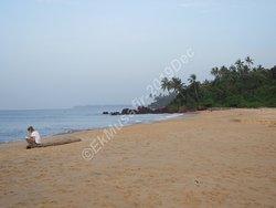 Meditating beach.