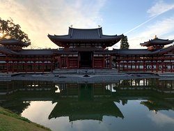 The pond and the Temple combined into a scene of beauty.