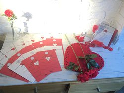 Our Valentines display - book now to spend a fantastic evening upstairs in our designated couples area!