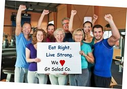 We Love GT Salad Co. Eat Right and LIve Strong TC!