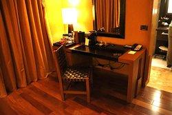 Desk area & coffee machine