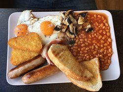 Larger breakfast. Choice of white or brown toast