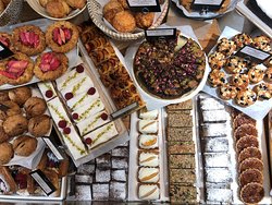 a selection of cakes & pastries