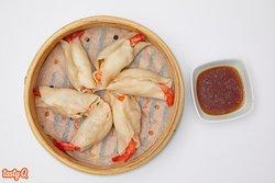 Guo Tie Gyoza a la plancha rellena de carne y gamba
