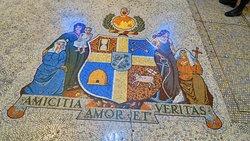 Ornate mosaic floor