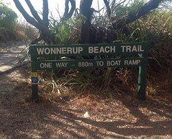Wonnerup Beach Trail sign