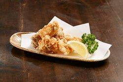 熊本県産の肥後赤鶏のから揚げ ビールのおつまみに最適な一品です