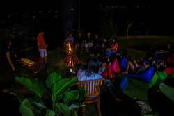 Bonfire and bbq party