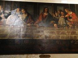 Grande tela di Alessandro Araldi (1516) che riproduce il Cenacolo di Leonardo da Vinci