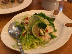 Fish with lime and chilli