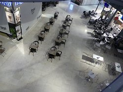 The food court on the lower ground floor