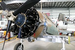 Aircraft being restored.