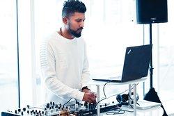 DJ at EAT PLAY LAUGH Brunch