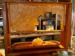 Honey cake at breakfast