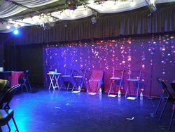 """Cabaret setting for """"LOVE in the USA"""" performance"""