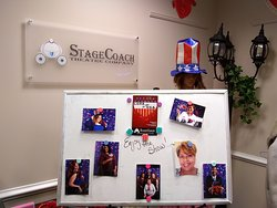 """Lobby sign for """"LOVE in the USA"""" cabaret performance"""