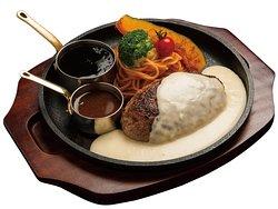 黒毛和牛入りチーズハンバーグ [180g] Wagyu Cheese Hamburg [180g] 和牛奶酪汉堡肉饼 [180g] 와규 치즈 햄버그 [180g]