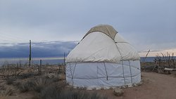 Winter yurt camp