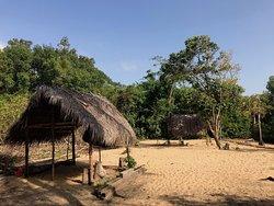 Private beach of the Urusji lodge