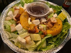 Grilled peach salad with mozzarella + candied nuts  -  Boniello's  -  Riverdale, NJ