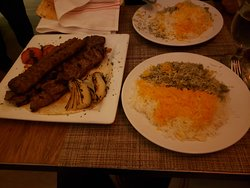 Combination Kebob + 2 types of rice