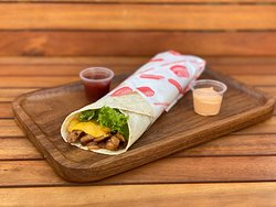 Toasted chicken twister