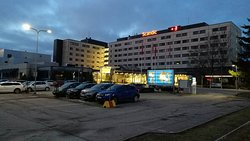 Parking lot and Hotel