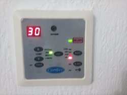 heating control which is very easy to use giving hot and cold options.