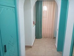 Hallway of room