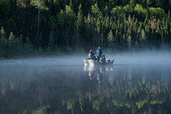 Early morning fishing on Eagle Lake. Photo by Ping Shen