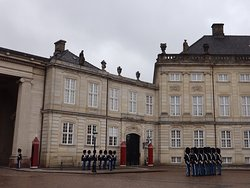 Soldier marching at Amalienborg.