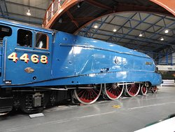 """The famous """"Mallard"""" in original livery and number."""
