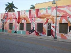 Flamingos Mural