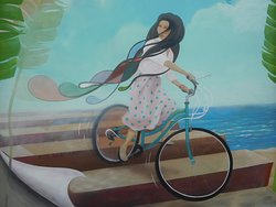 Girl on a Bicycle Mural