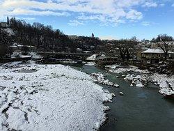 Rioni river in Winter