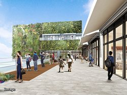 ショッピングモール / 壁面緑化で緑を感じる4Fテラス