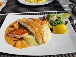 Lubina y salmón