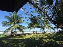 View from our beachfront Chalet